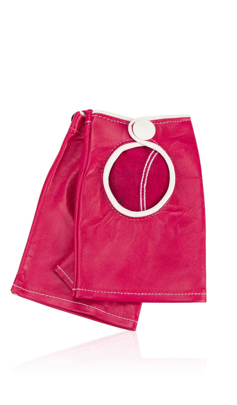 Guanto donna Sally Lady Fingerless Fuxia/Bianco