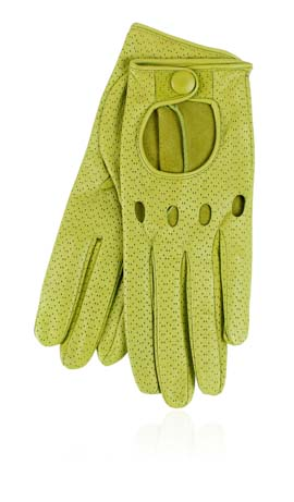 Grace Driving Lady Perforated Verde Acido