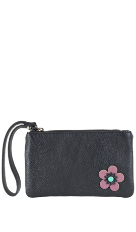 CAMILLA FLOWER ZIP Nero