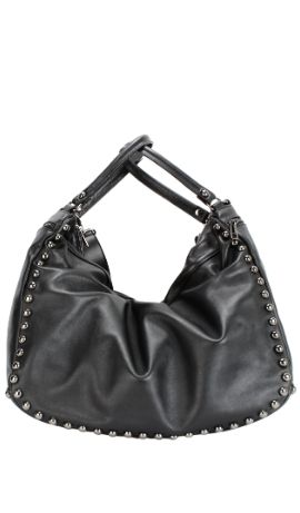 LACE STUD BAG Nero